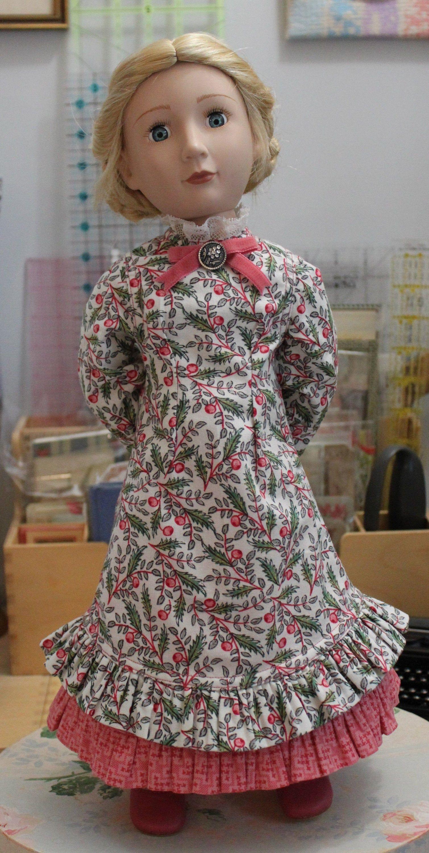1880's Style Prairie Dress & Underskirt for 16 Inch Doll, MC73