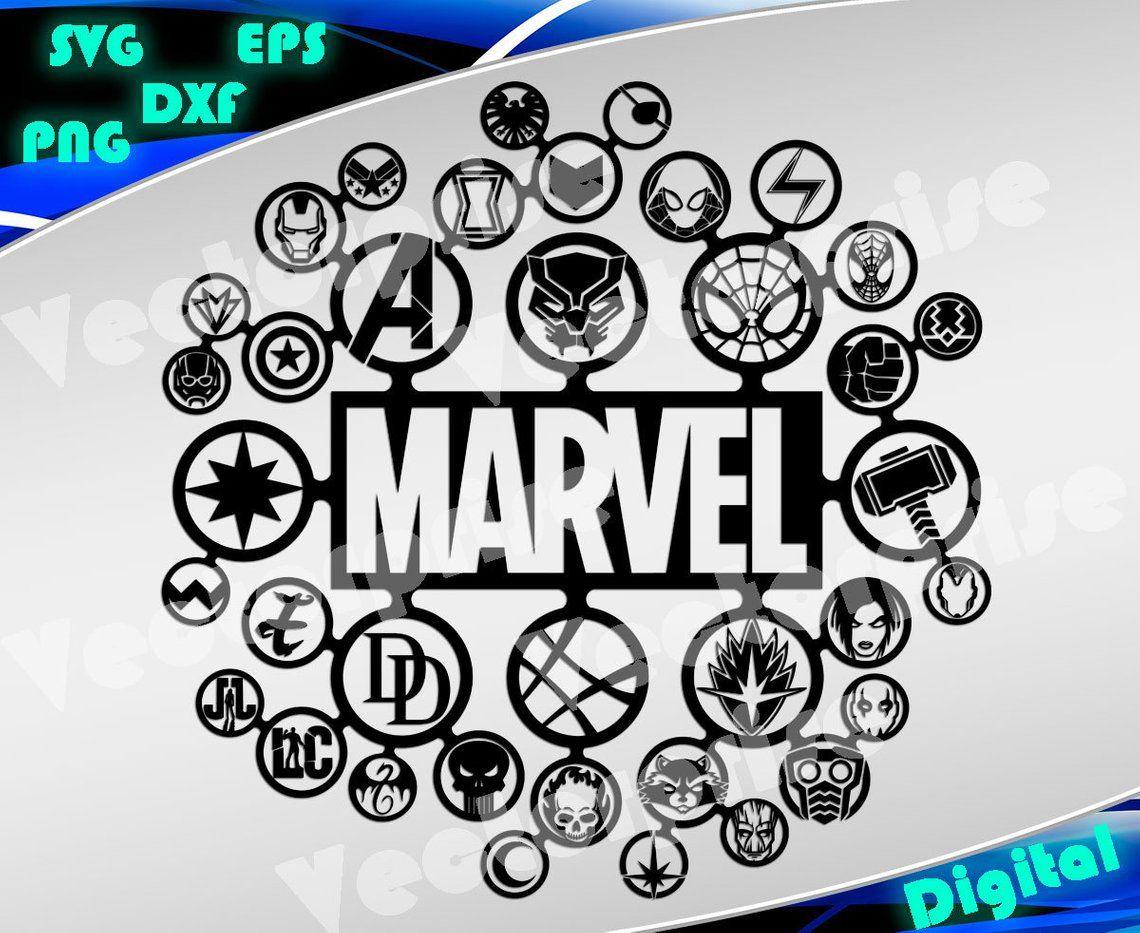 Superheroes svg Marvel svg Avengers svg Superheroes logo