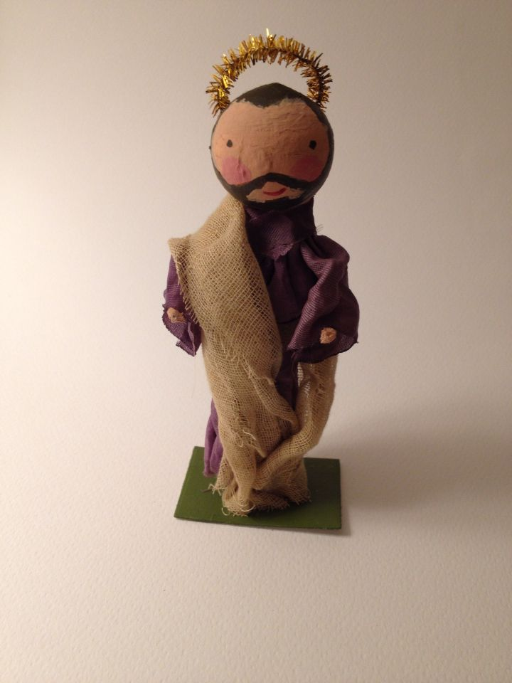 Clothespin doll -presepe