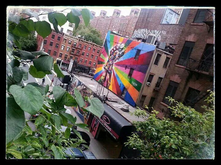 Arte de Chelsea, desde hight line NY