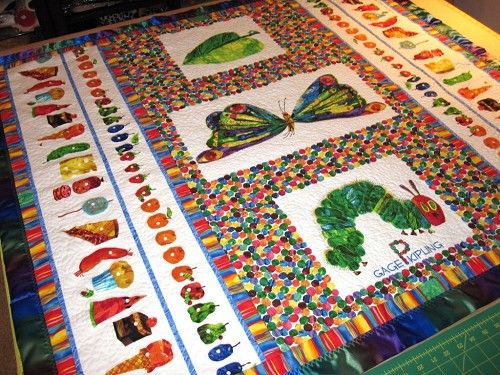 Weekly Themed Quilt Contests / Quilter's Fun, Quilting Gallery ... : the hungry caterpillar quilt - Adamdwight.com