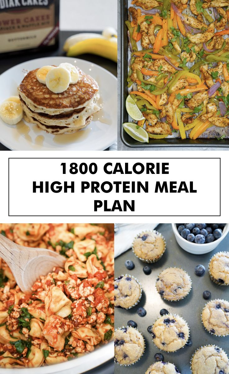 1800 calorie high protein meal plan in 2020 Protein meal