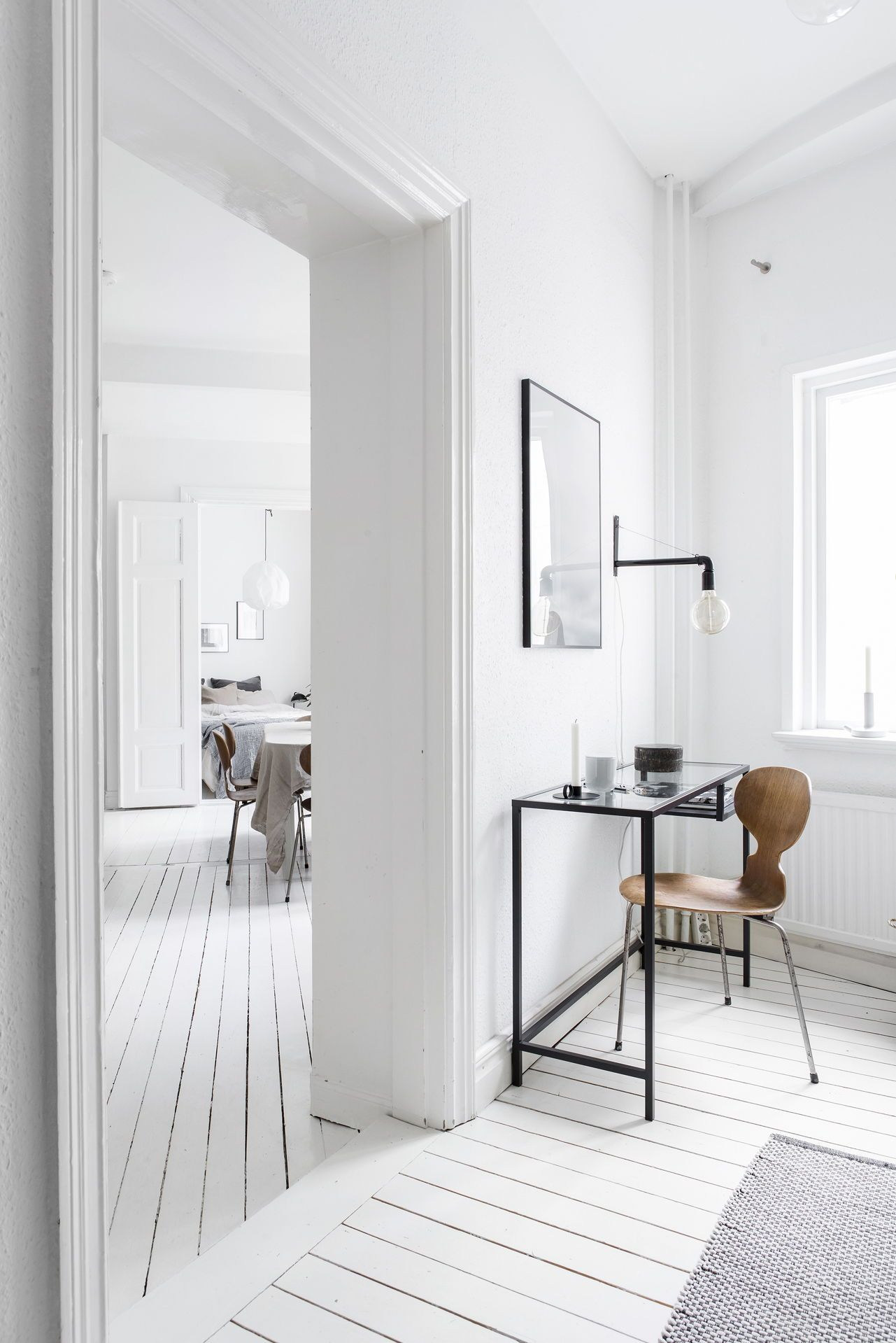 Bright white home decorated with natural tints | For when we don\'t ...