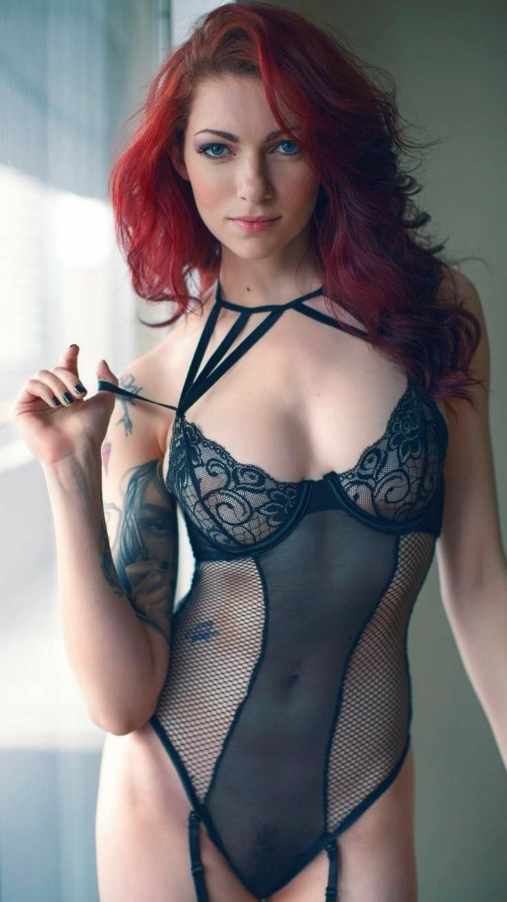 Redhead In Lingerie