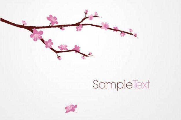 Freepik Graphic Resources For Everyone Branch Vector Cherry Blossom Clip Art Cherry Blossom Vector