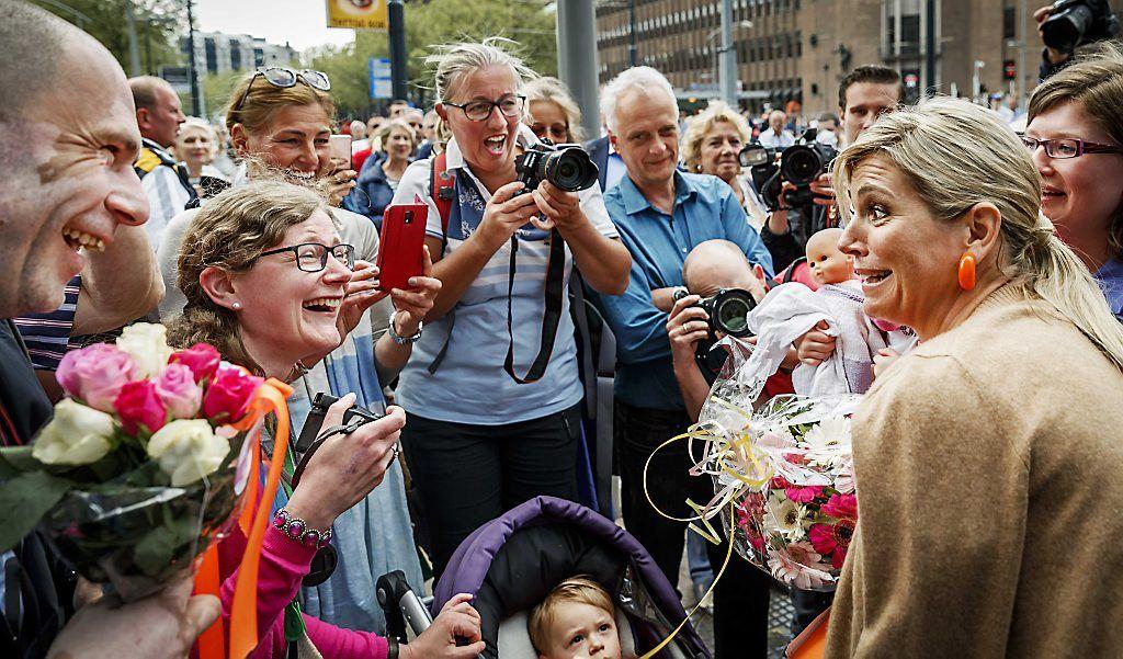 Koningin Máxima hield woensdag in het World Trade Center in Rotterdam een toespraak tijdens de internationale klimaatconferentie Adaptions Futures 2016. Zij...