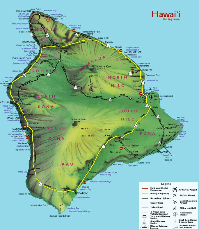 Big Island Hawaii Hawaii Surf Destinations Hawaii Big Islands Map