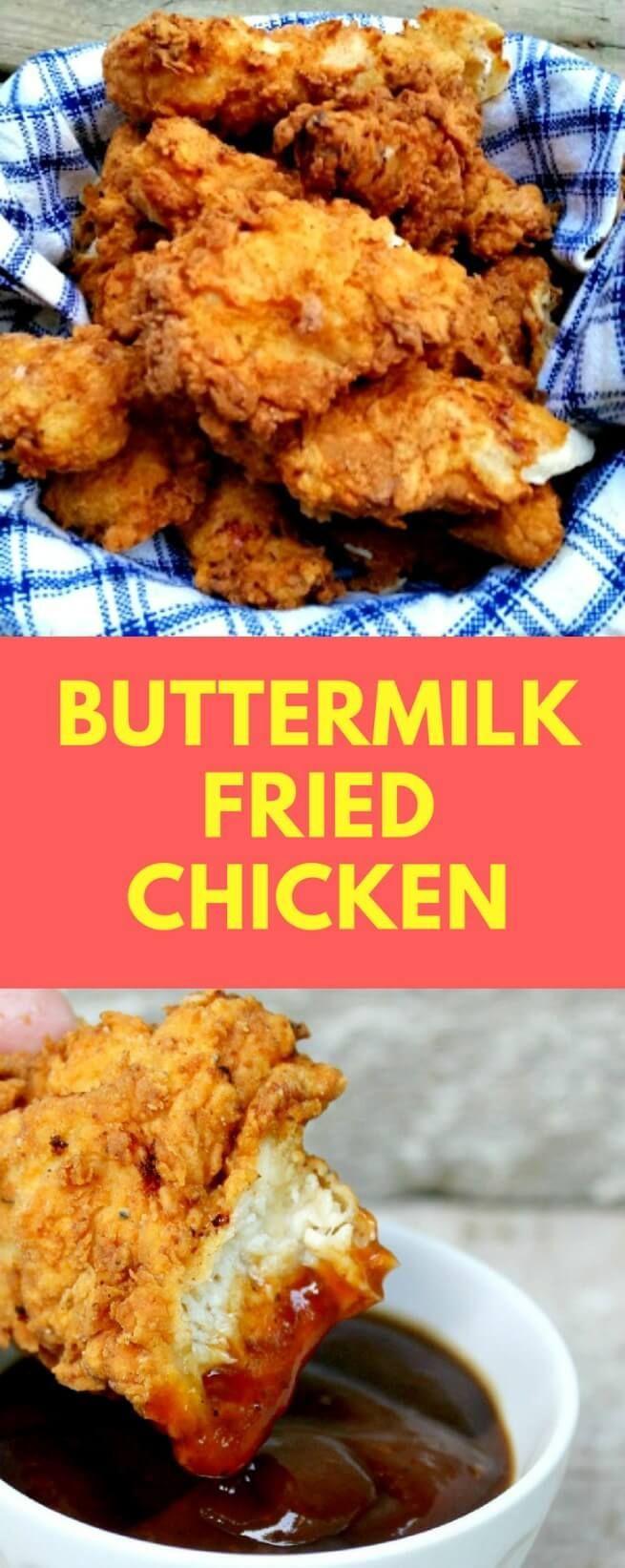 Buttermilk Fried Chicken Recipe Fried Chicken Recipe Easy Fried Chicken Recipes Chicken Recipes