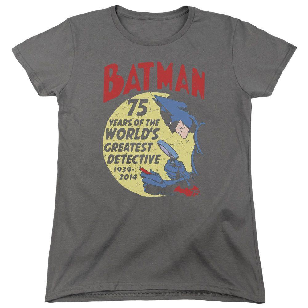 Batman Detective 75 Charcoal Womens T-Shirt