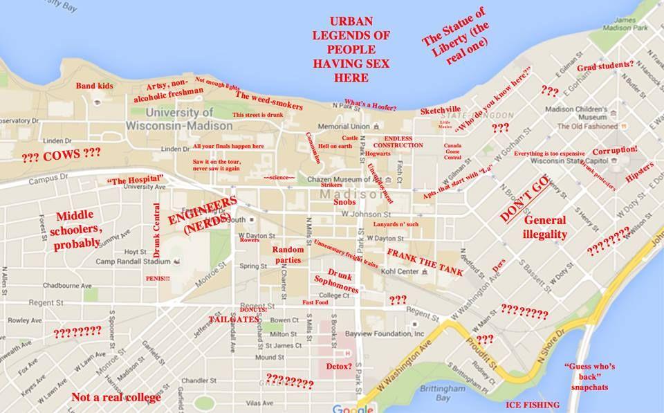University Of Wisconsin Httptheblacksheeponlinecomwisconsin - A map of wisconsin