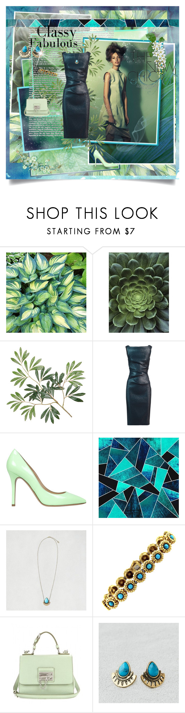 """Green dream"" by kristina-kazlauskaite ❤ liked on Polyvore featuring mode, Talbot Runhof, Semilla, American Eagle Outfitters, Tiffany & Co., Dolce&Gabbana, women's clothing, women's fashion, women en female"