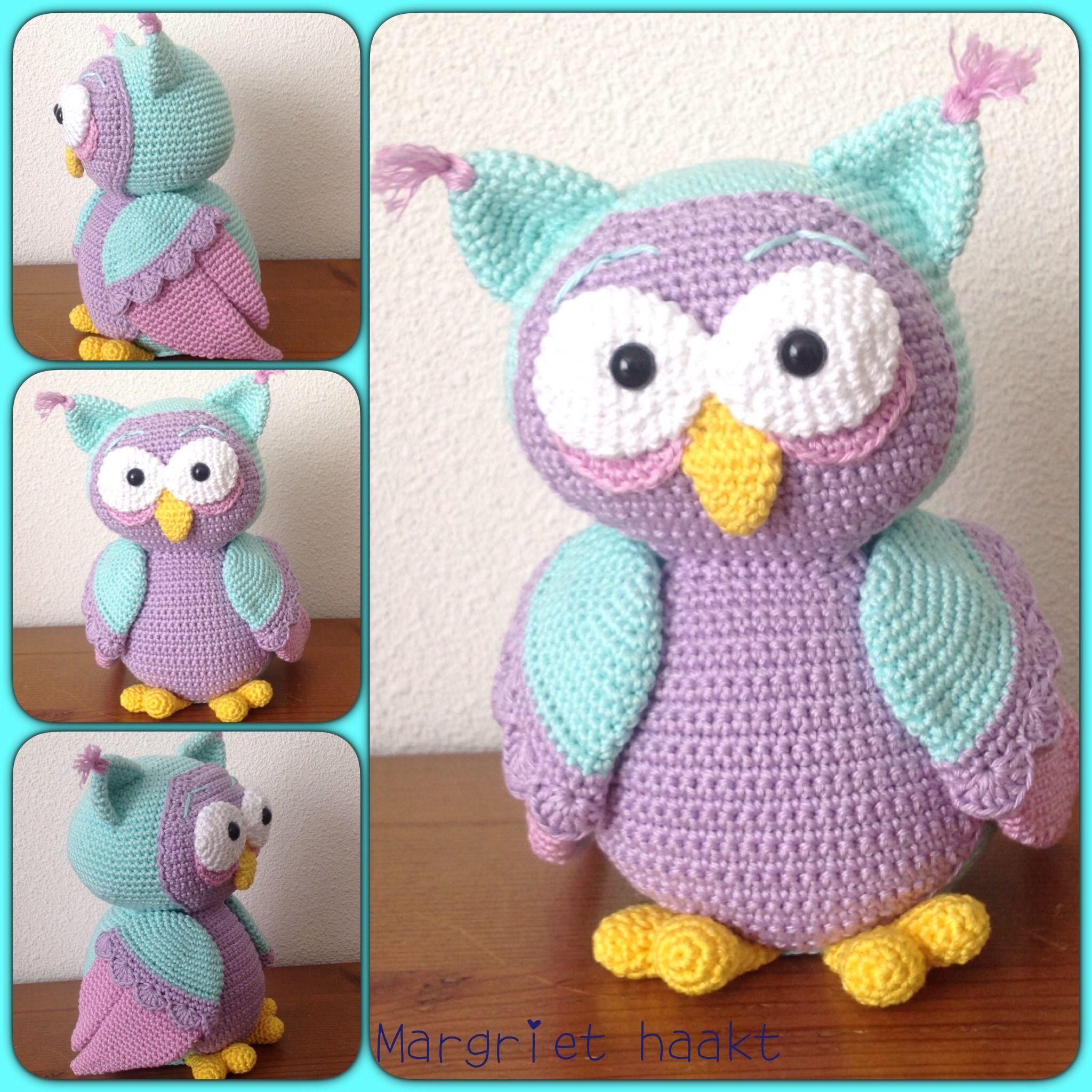 Gehaakte uil / crochet owl | Crochet toys | Pinterest | Artesanía de ...