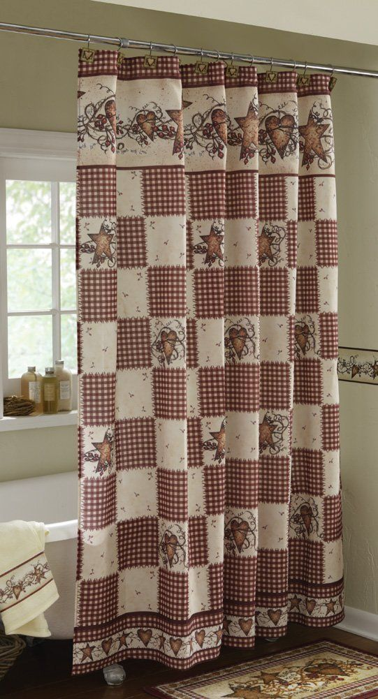 Country Shower Curtains Sets And Country Style Bathroom Accessories Primitive Shower Curtains Fabric Shower Curtains Shabby Chic Shower Curtain