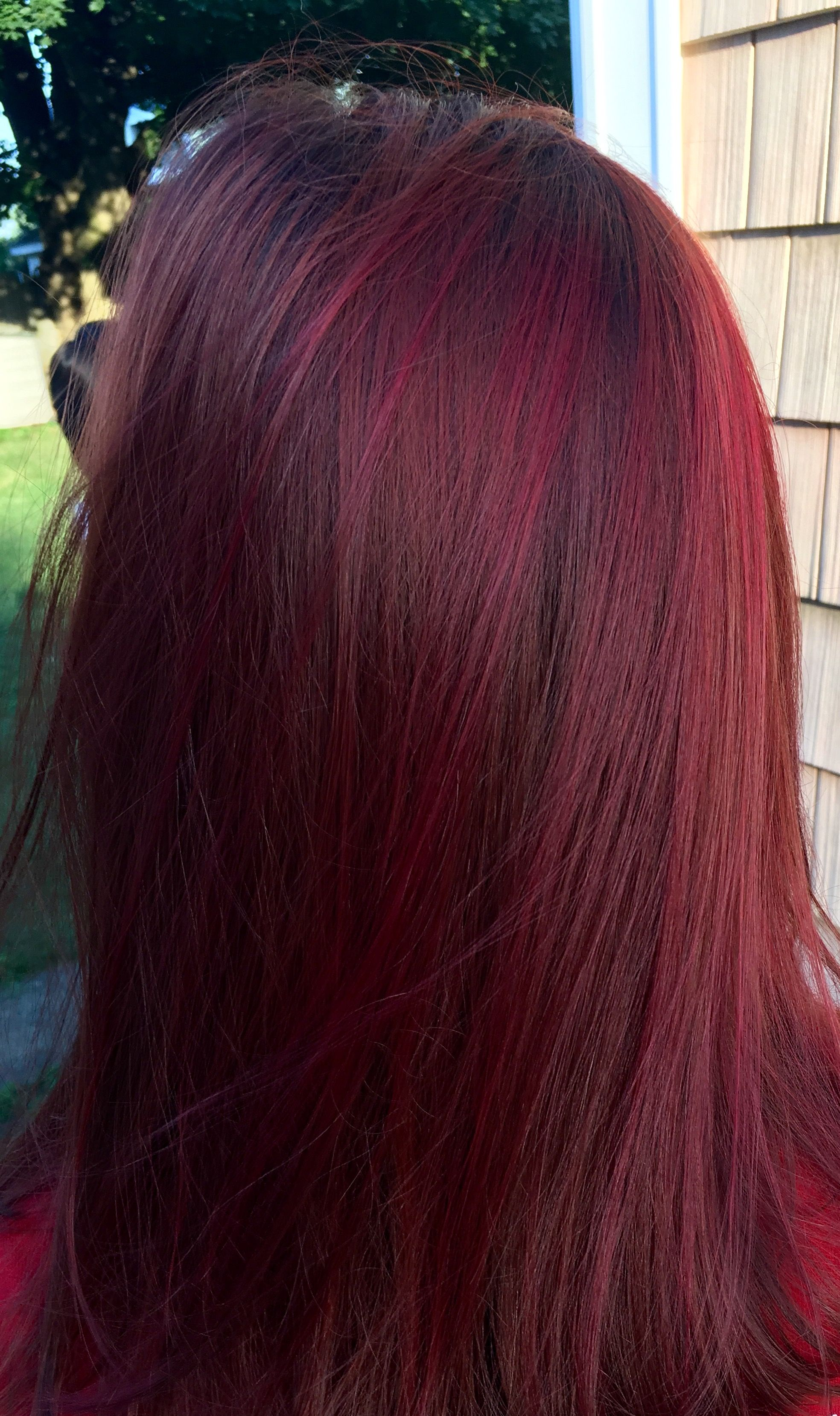 Vibrant red color wella color touch studio j hair for Color touch salon