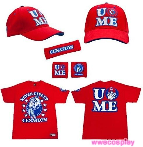 john persevere authentic shirt sweatband set baseball cap cena never give up wwe hat