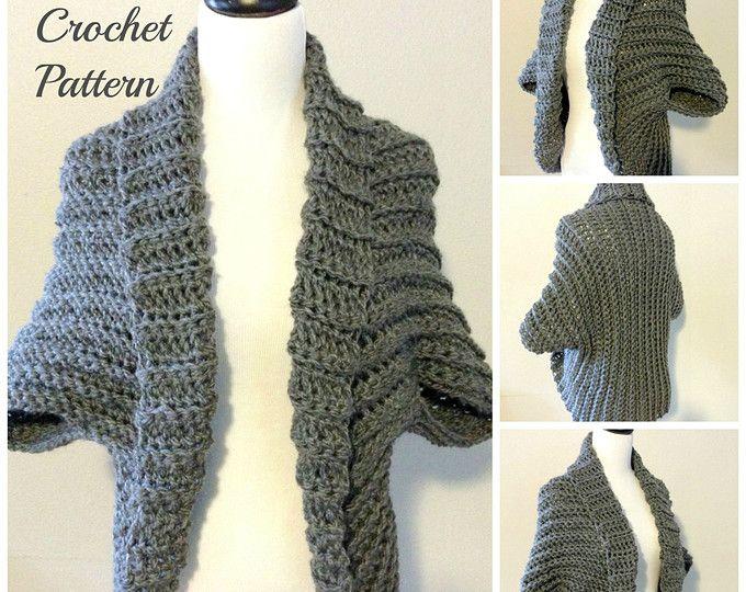 Crochet Pattern Crochet Shrug Pattern Chunky Shrug Pattern