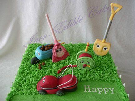 lawn mower cakes | Larry the lawnmower birthday cake