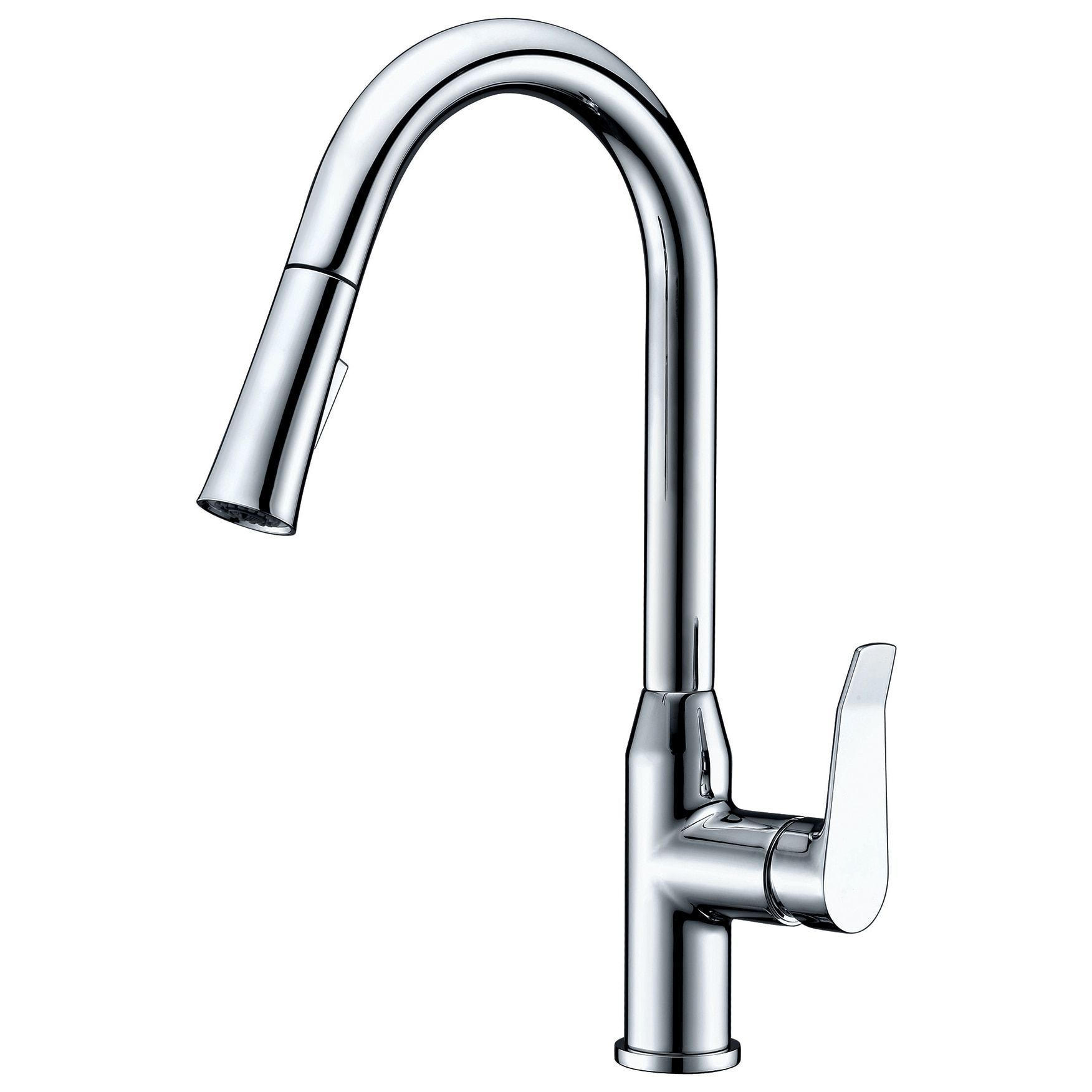 Dawn USA Chrome (Grey) Single-lever Pull-down Spray Kitchen Faucet ...