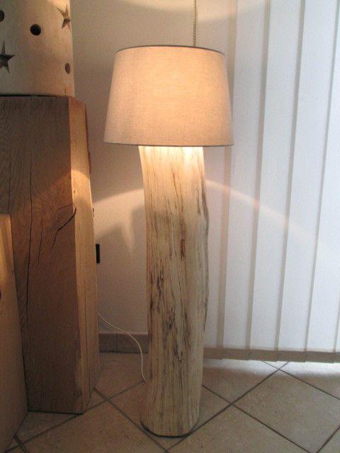 eiche baumstammlampe stehlampe 22 x22 x 110cm komp mit ikea schirm neu in meinem. Black Bedroom Furniture Sets. Home Design Ideas