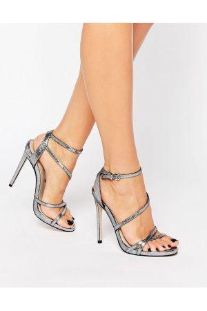 c8db321701f7 Carvela Georgia Strappy Heeled Sandals - Gunmetal fabric