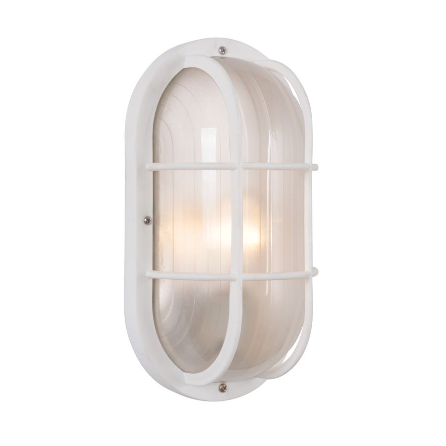 White Outdoor Lights Portfolio 105In H White Outdoor Wall Light  Wall Street