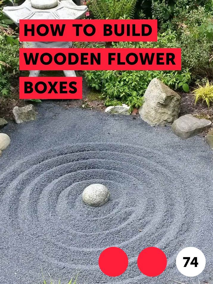 How to Build Wooden Flower Boxes #woodenflowerboxes