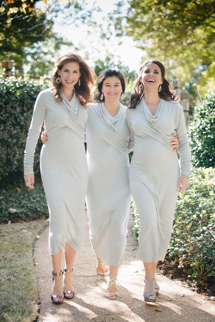 Nontraditional bridal party dresses photo by sugar photography