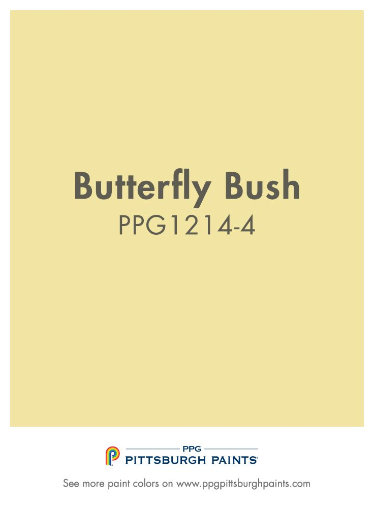 BUTTERFLY BUSH paint color is part of the Yellows color family by PPG Pittsburgh Paints®.