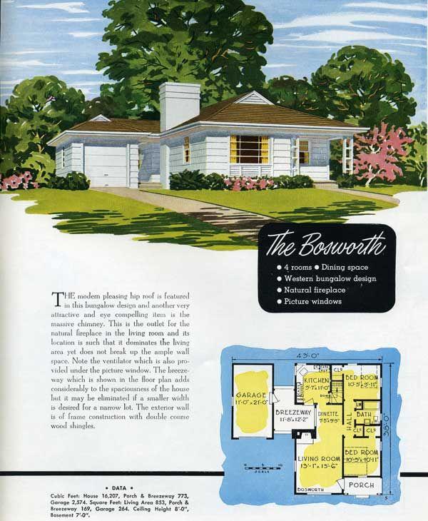 1949 national homes: the bosworth | housal skin | pinterest