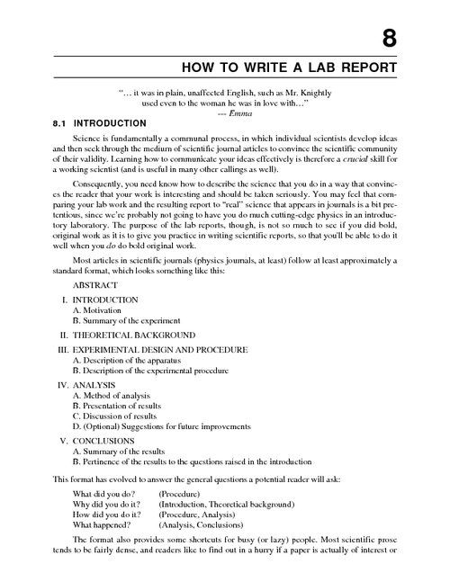 How to Write a Lab Report Example Electrical Engineering Studies - how to write an official report format