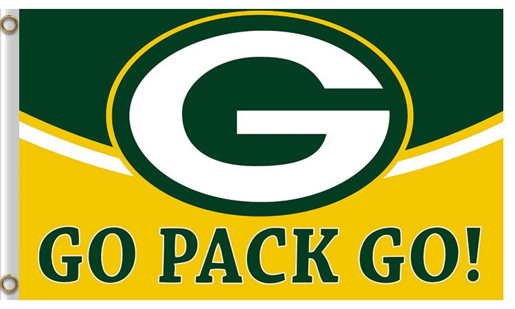"GREEN BAY PACKERS  /""YOU UNDERESTIMATE THE POWER OF/"" 3X5 DELUXE FLAG NEW"