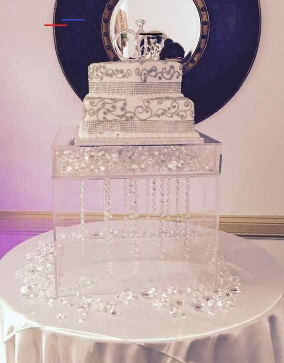 Acrylic Box Cake Stand