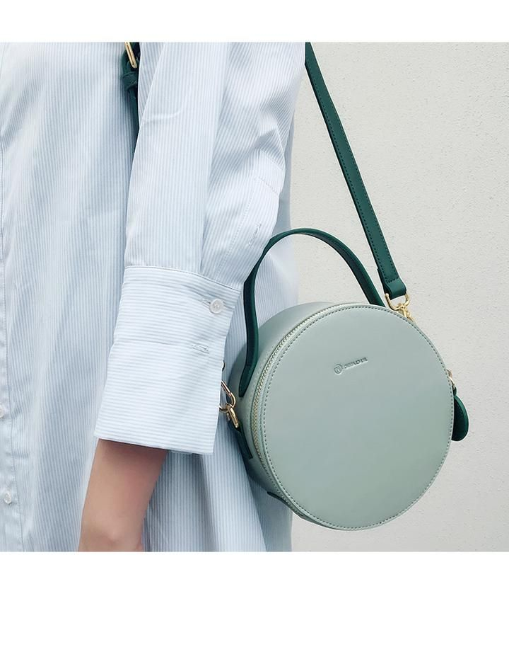 Overview: Design  Leather Circle Bag Circle Purse Crossbody Bag Round Bag  Round Purse In 270edfa50aa54