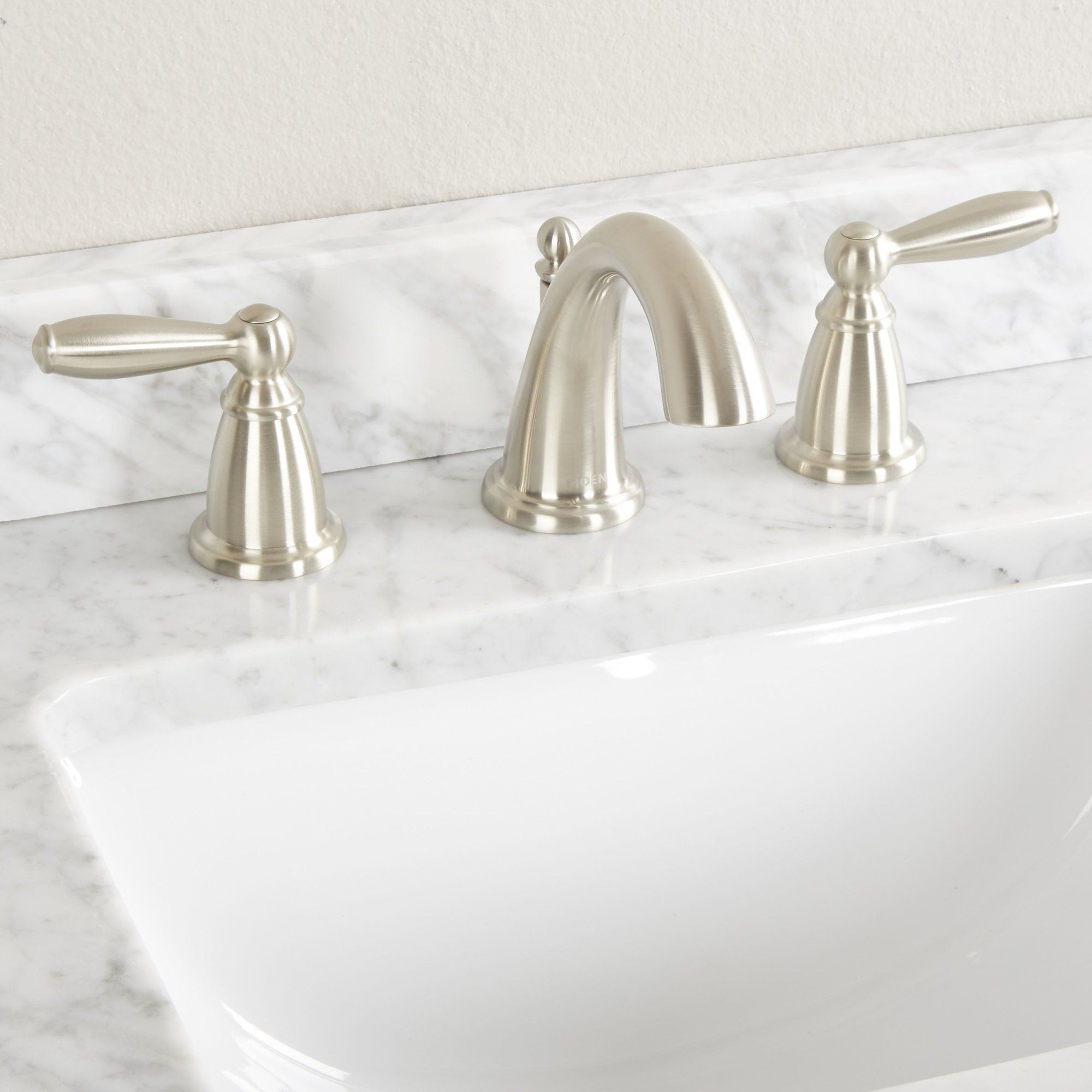Photo of Brantford Widespread Bathroom Faucet with Drain Assembly