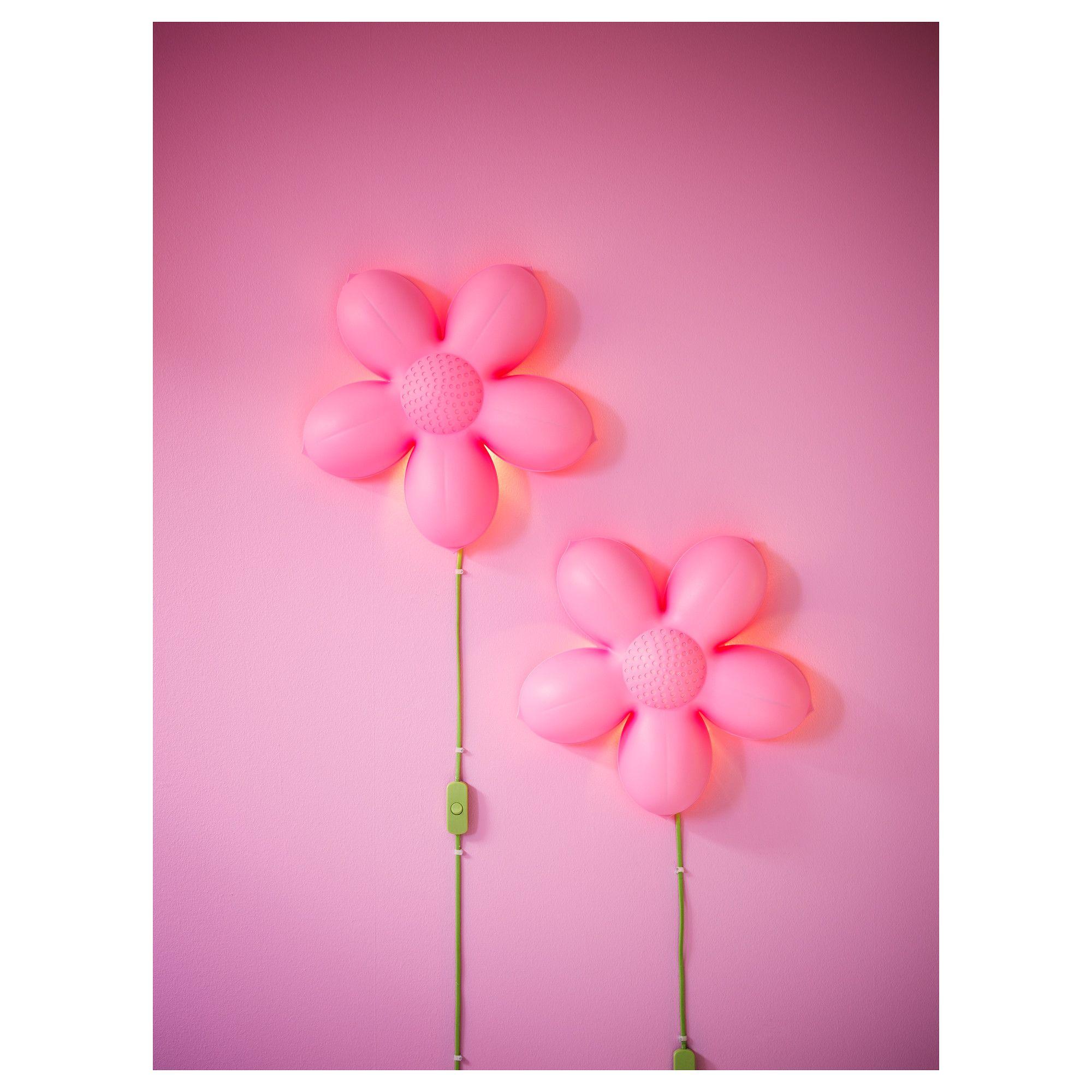 SMILA BLOMMA Απλίκα IKEA Home Pinterest Kids Rooms Walls - Flower lights for bedroom