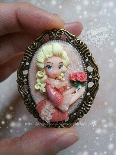 #marie #antoniette #fimo #maria #antonietta #lady #oscar #regina #francia #franzin #creazioni