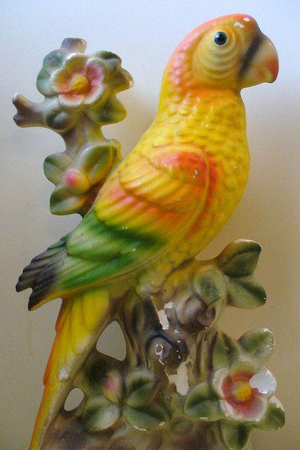 vintage ceramic bird by judibird, via Flickr