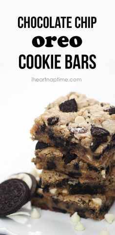Oreo Chocolate Chip Cookie Bars [ Vacupack.com ] #dessert #quality #fresh