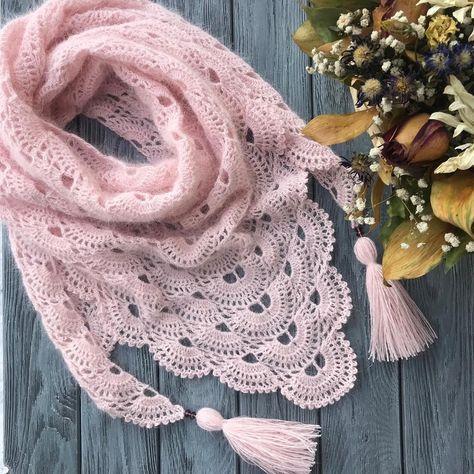 Ажурный платок с узором паучки Схемы вязания крючком шалей – Artofit - Slideit.top