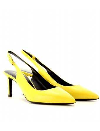 I am in love with these kittens. SAINT LAURENT PARIS LEATHER SLING-BACK PUMPS $ 628.00