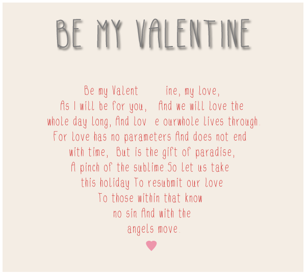 Freebie // Be My Valentine