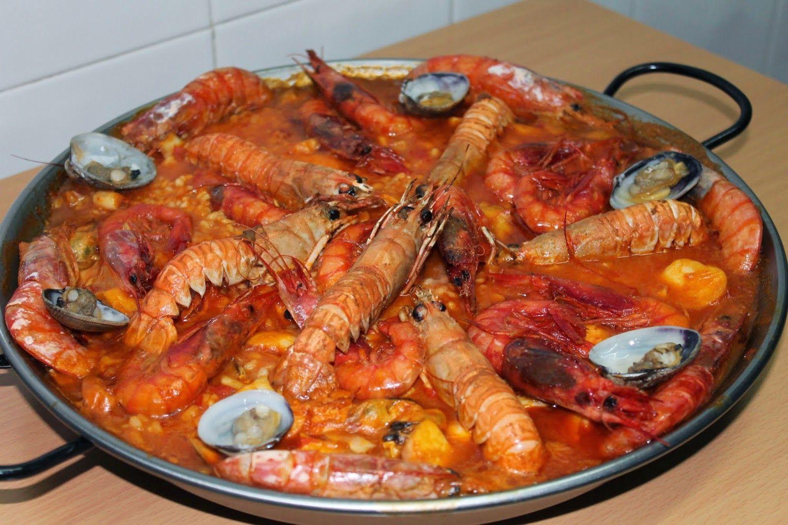 Las Recetas De Maria Paella De Mariscos Al Horno Paella De Mariscos Receta De Paella De Mariscos Ingredientes Para Paella