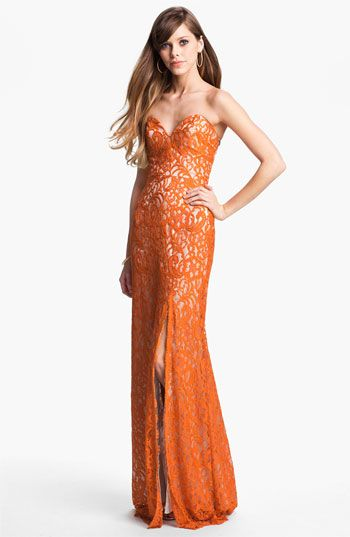 Dalia MacPhee Strapless Lace Gown available at Nordstrom