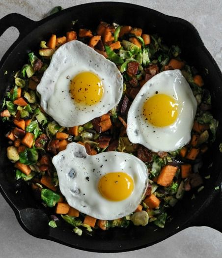 Brussels Sprouts Breakfast Hash I howsweeteats.com