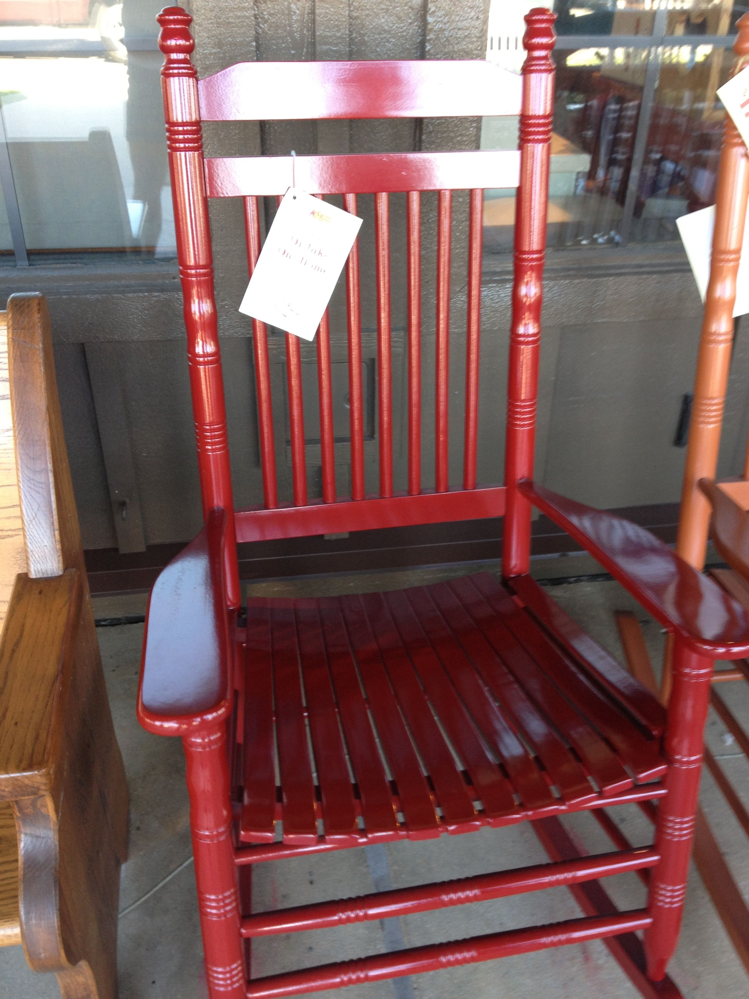 RED rocking chair from Cracker Barrel (With images