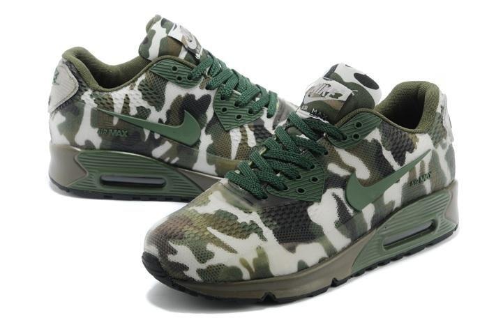 Nike Air Max 90 Womens Shoes HYP KPU TPU 2014 New Camo Green 03 3