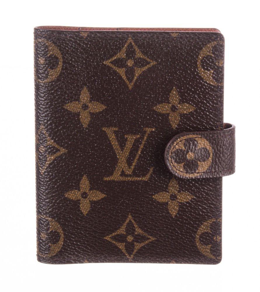 Louis vuitton brown monogram canvas business card holder
