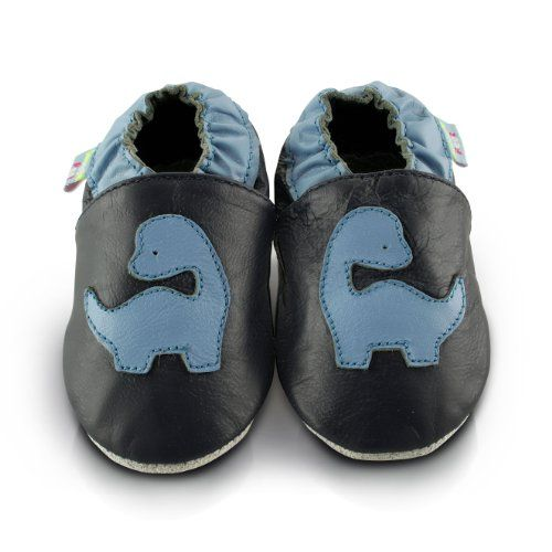 Inch Blue - Patucos de Piel para niño Azul azul yNmTk