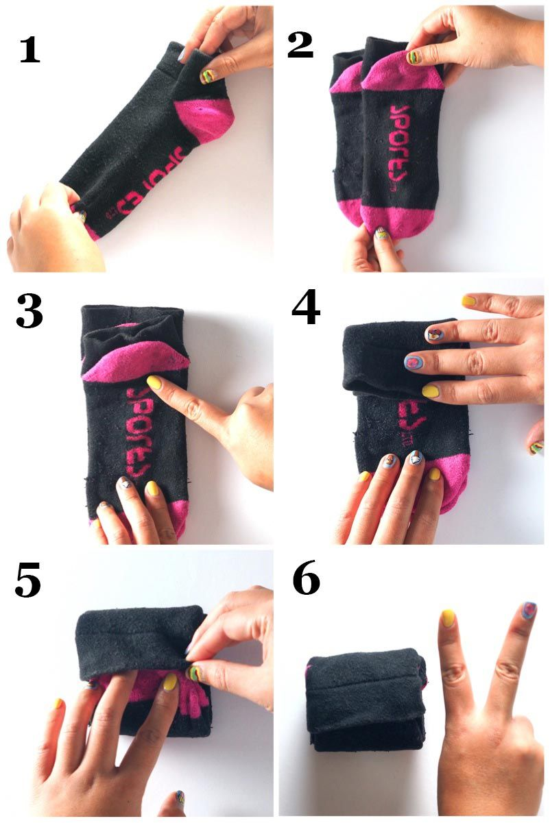 how to fold socks like a boss haushalte aufr umen und. Black Bedroom Furniture Sets. Home Design Ideas