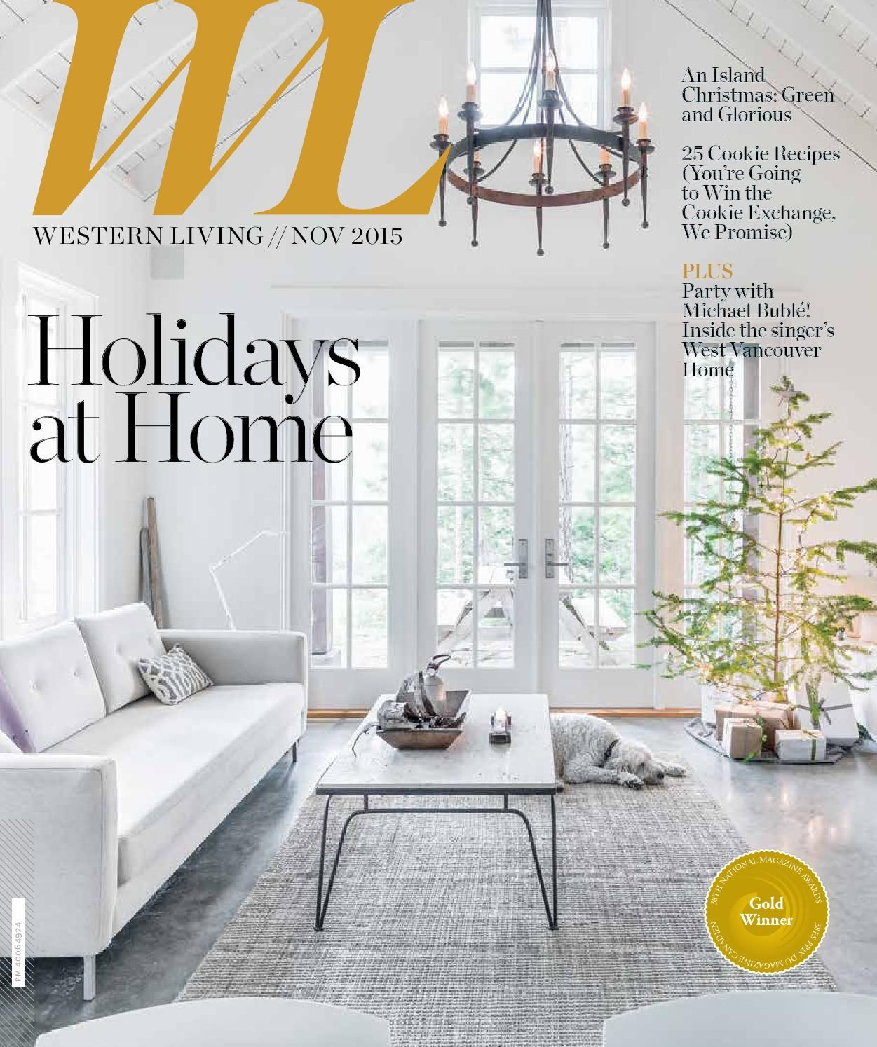 Western Living - BC, November2015   Living magazine, Westerns and ...